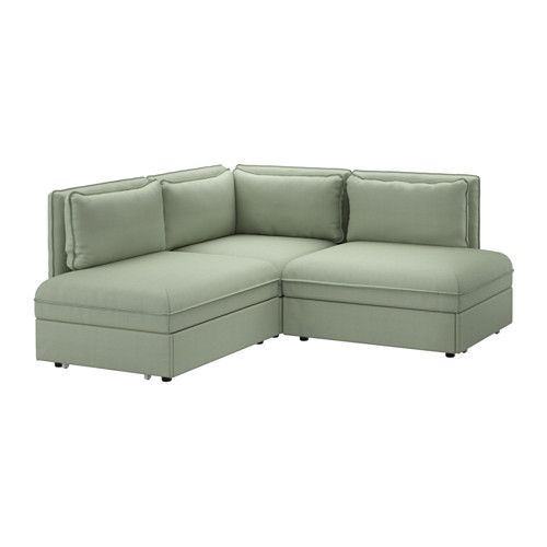 IKEA VALLENTUNA Corner Sofa With Bed Hillared Green Add, Remove Or Change  Functions To Suit Your Needs, And Choose Covers To Fit Your Style.