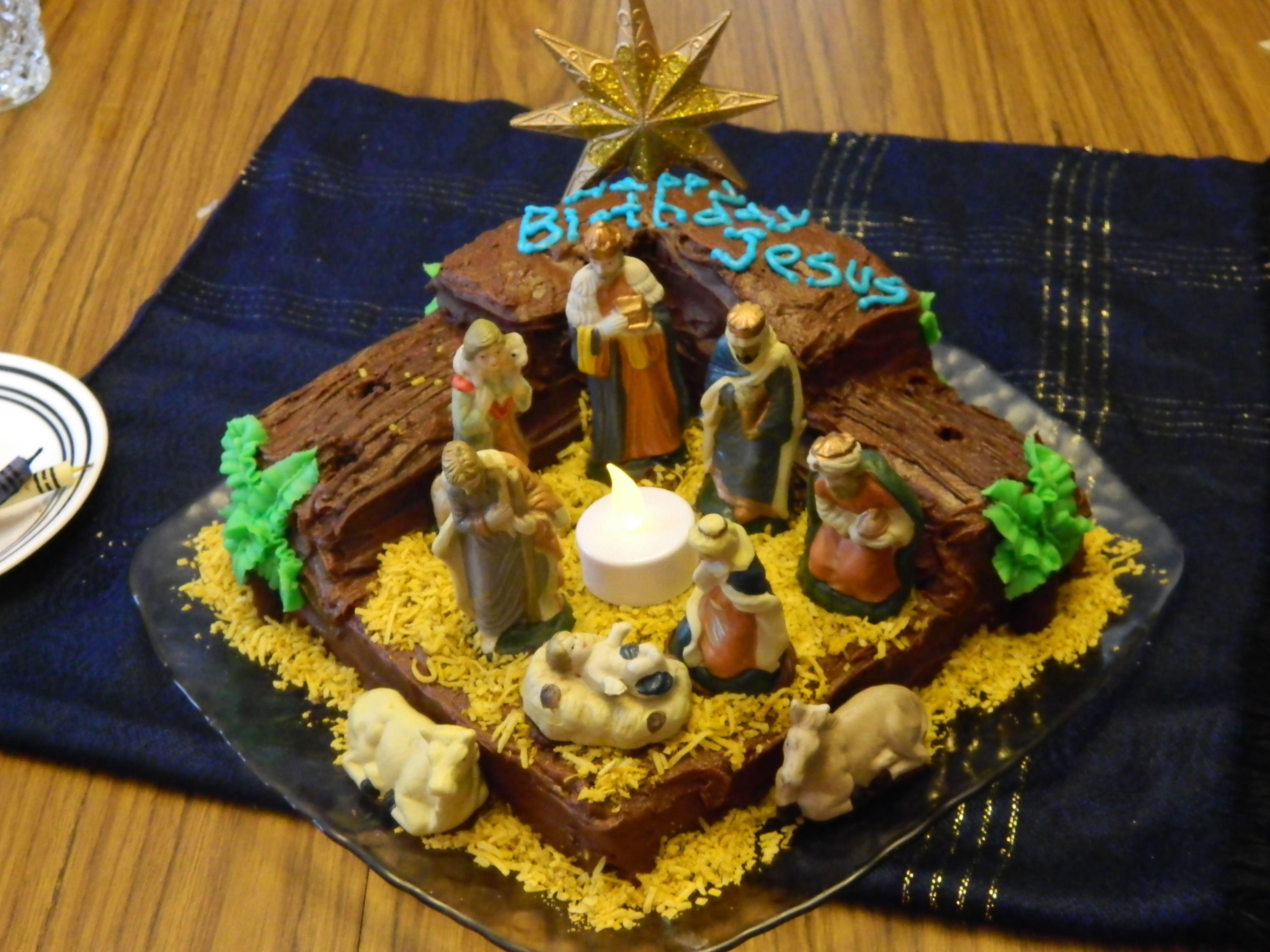 Birthday cake for Jesus Christmas poems, Christmas cake