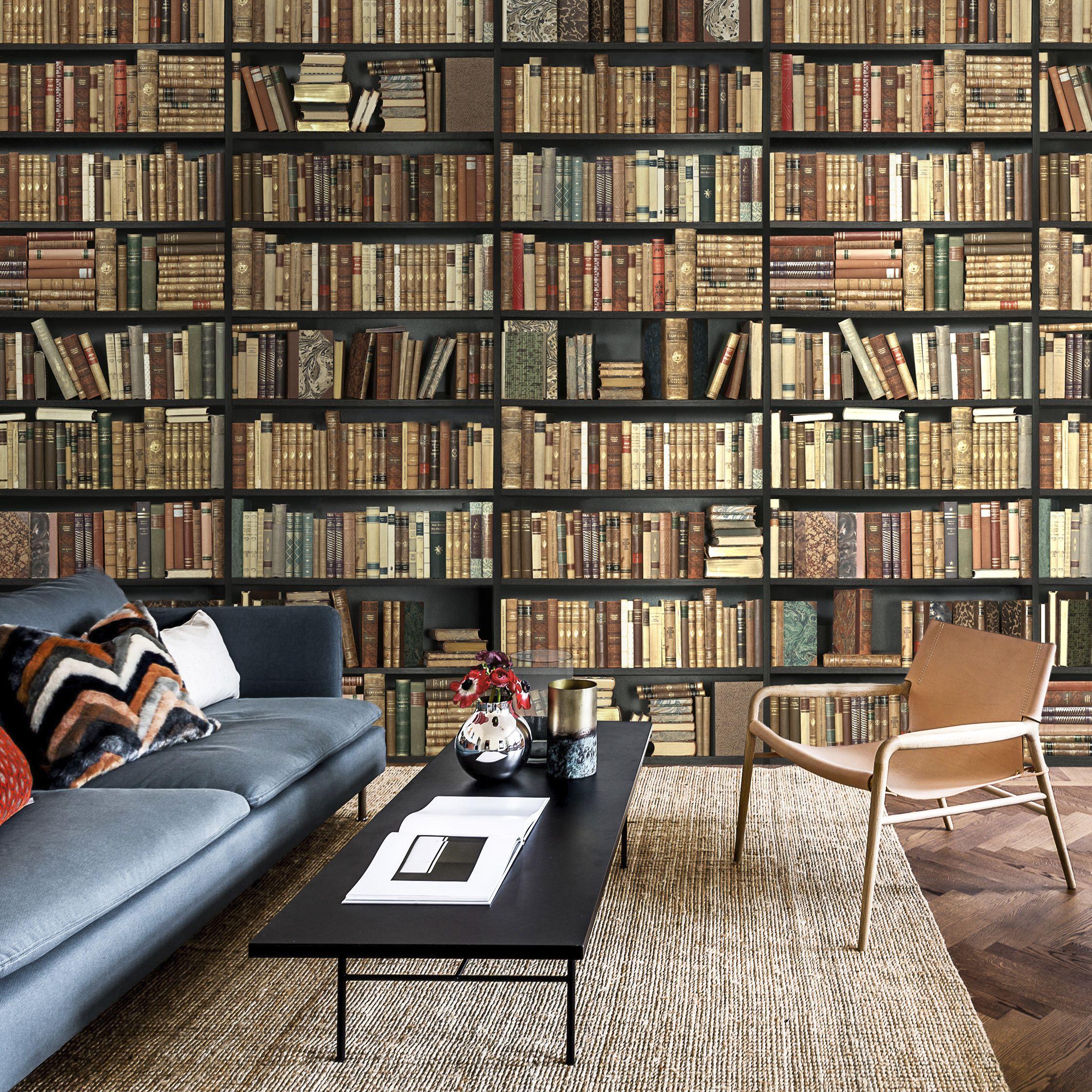 Bookshelf Wallpaper Bookshelf Wallpaper Wallmural Wallpaper Bookshelf Wallpaper Furniture Wall Bookshelves