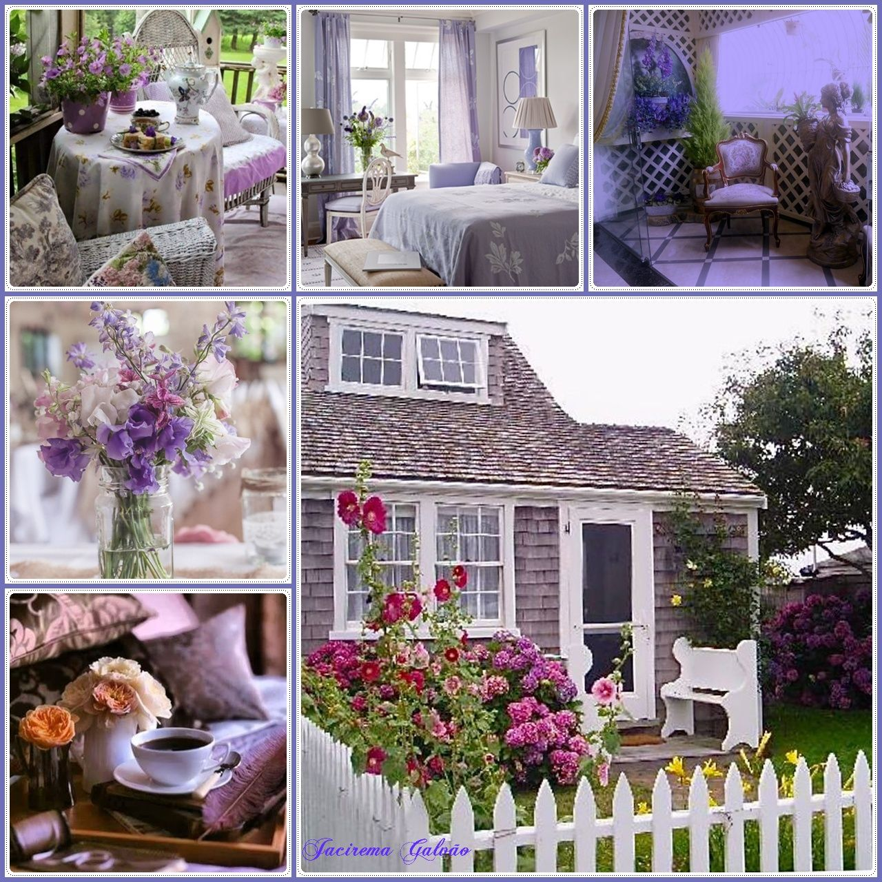 Haus Shabby Chic lilac house cottage style shabby chic cottage style
