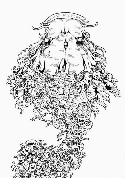 08 Filipino Artist Kerby Rosanes Doodle Invasion Drawings Designstack Co