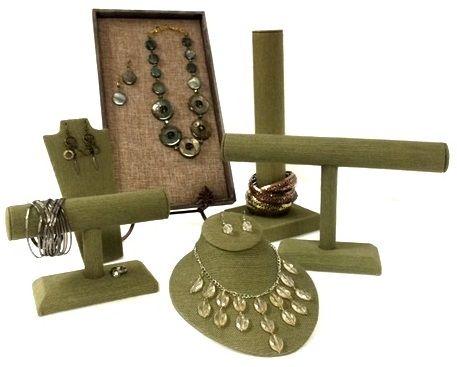 Sage Linen Jewelry Displays From Stamps Fixtures