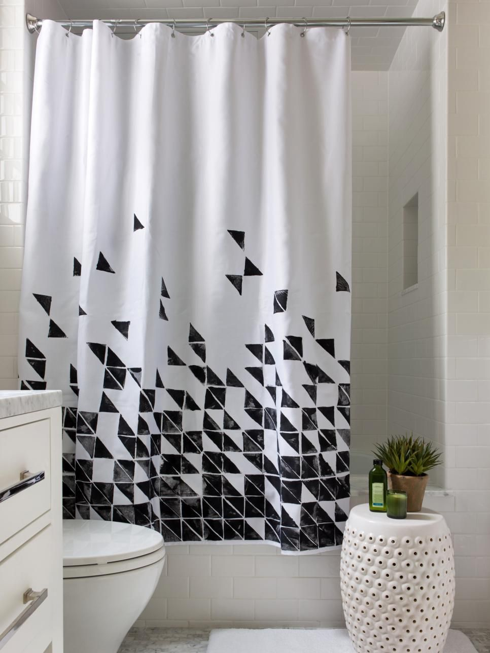 3 Easy Ways To Upcycle A Plain Shower Curtain Black Shower