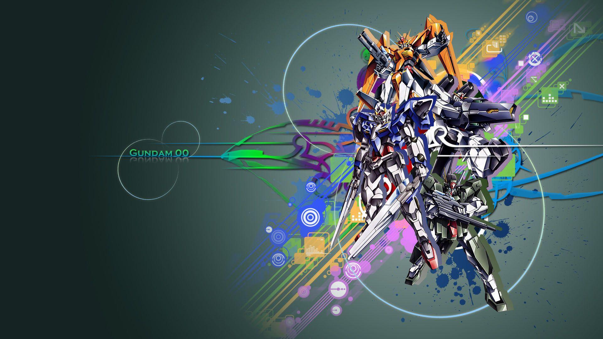 Gundam 00 Mobile Suit Hd Wallpaper Seni