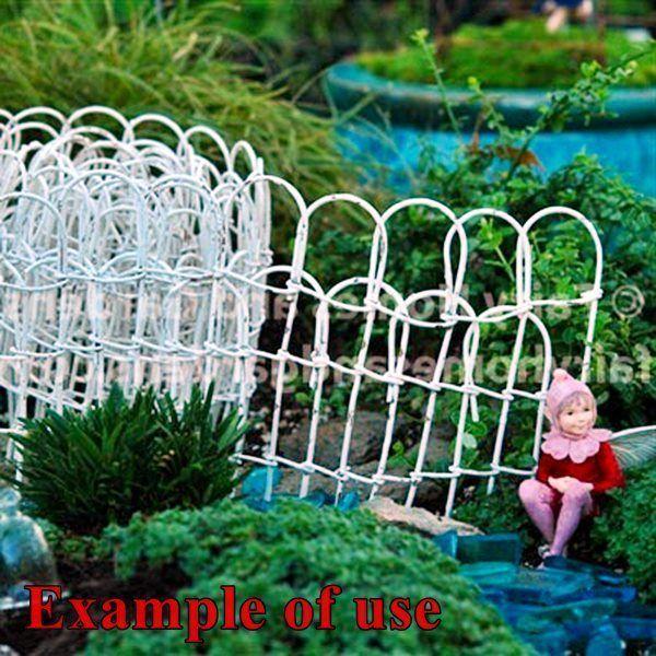 white wire garden fence. MINIATURE WHITE WIRE GARDEN FENCE 2.5\ White Wire Garden Fence E