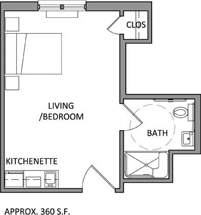 Studio apartment floor plans bing images inspiration for Studio apartment floor plans pdf