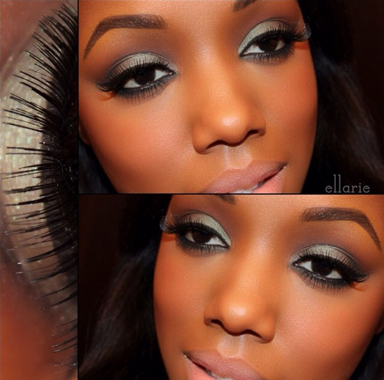 Love this makeup look for darker brown skin like mine