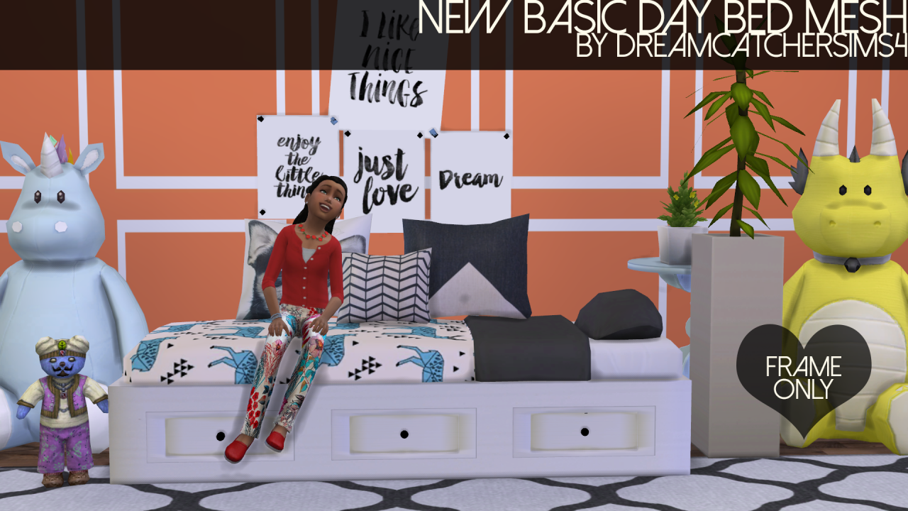My sims 3 blog sims 3 collage wall decor by michelleab - My Sims 4 Blog Basic Day Bed Mesh Recolors Frame Only By Dreamcatchersims4