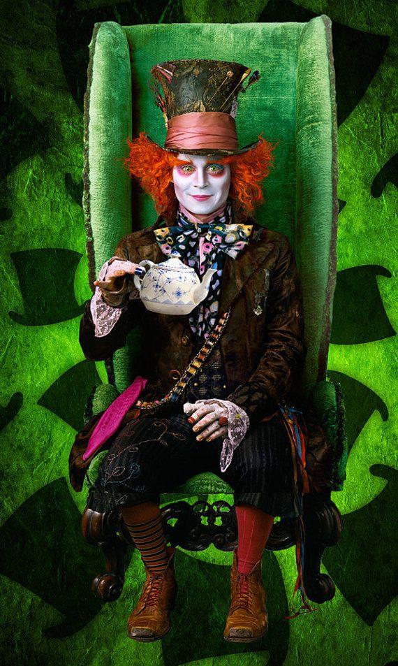 Tim Burton's Mad Hatter Top Hat by WonderfulWonderWorld on ...  Mad
