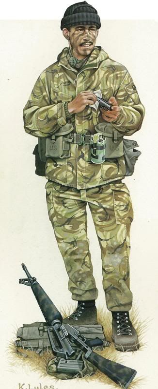 Falklands War 1982 - SAS soldier | uniforms | Falklands war