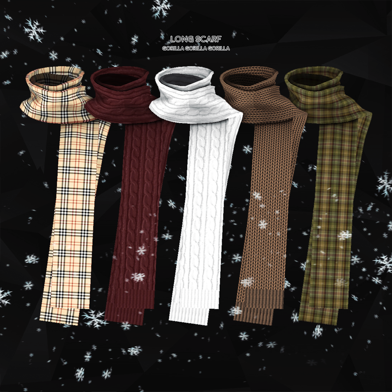 Photo of NICE Long scarf by GorillaX3! Must check out this artist and…