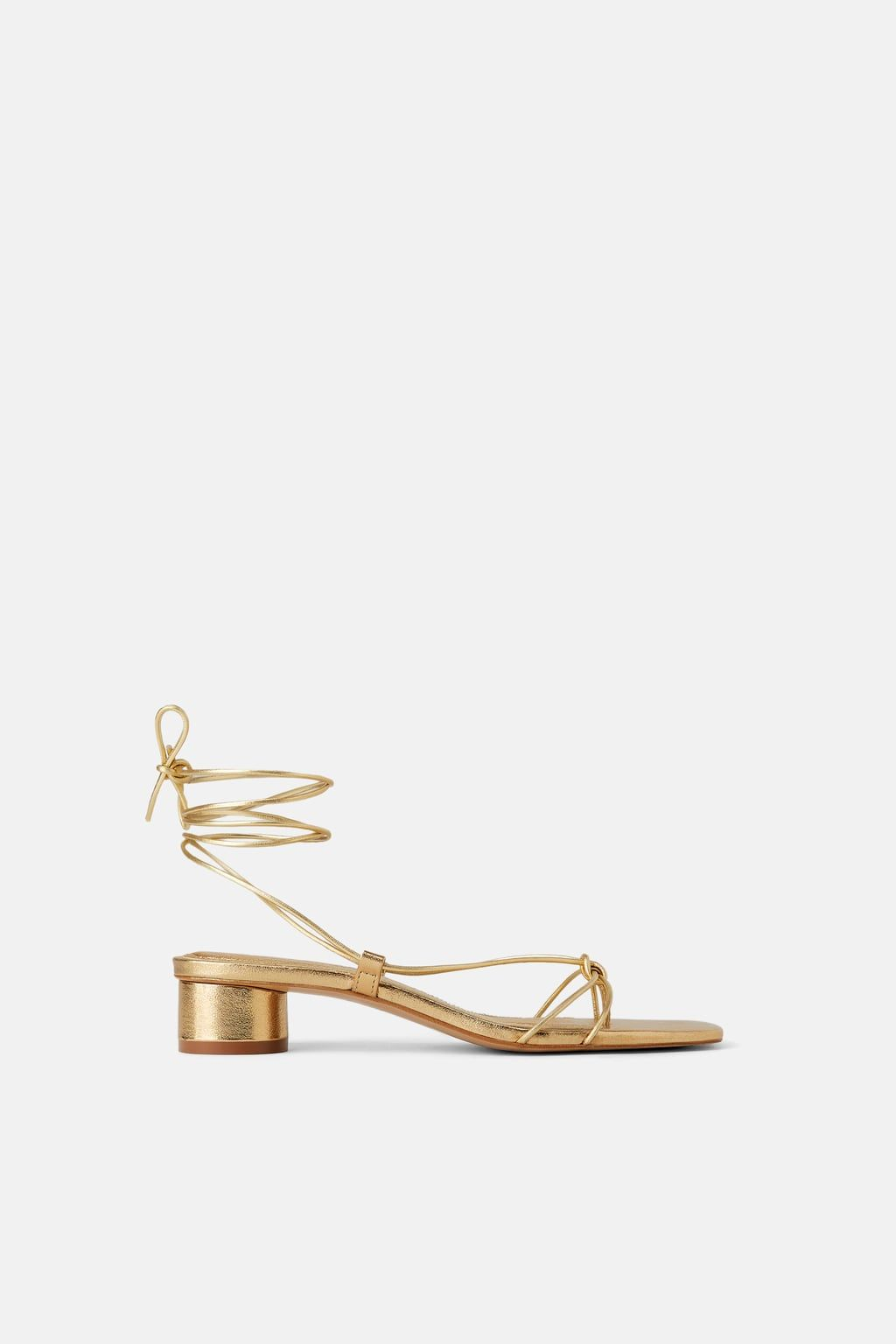 673d42e09 HEELED LEATHER SANDALS WITH THIN STRAPS - Heeled Sandals-SHOES-WOMAN | ZARA  United States