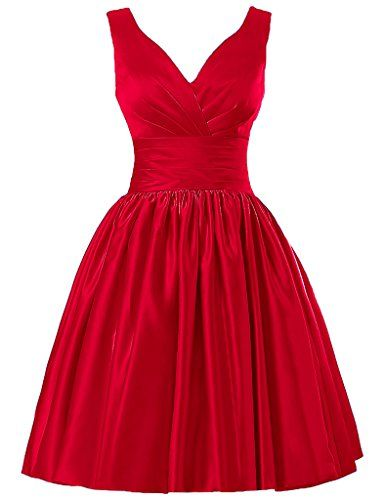 JAEDEN Short Bridesmaid Dresses Satin Prom Dress V Neck Ruched Gown Red US2 JAEDEN http://www.amazon.com/dp/B01AHOIW6C/ref=cm_sw_r_pi_dp_IkNSwb0XAC2TK