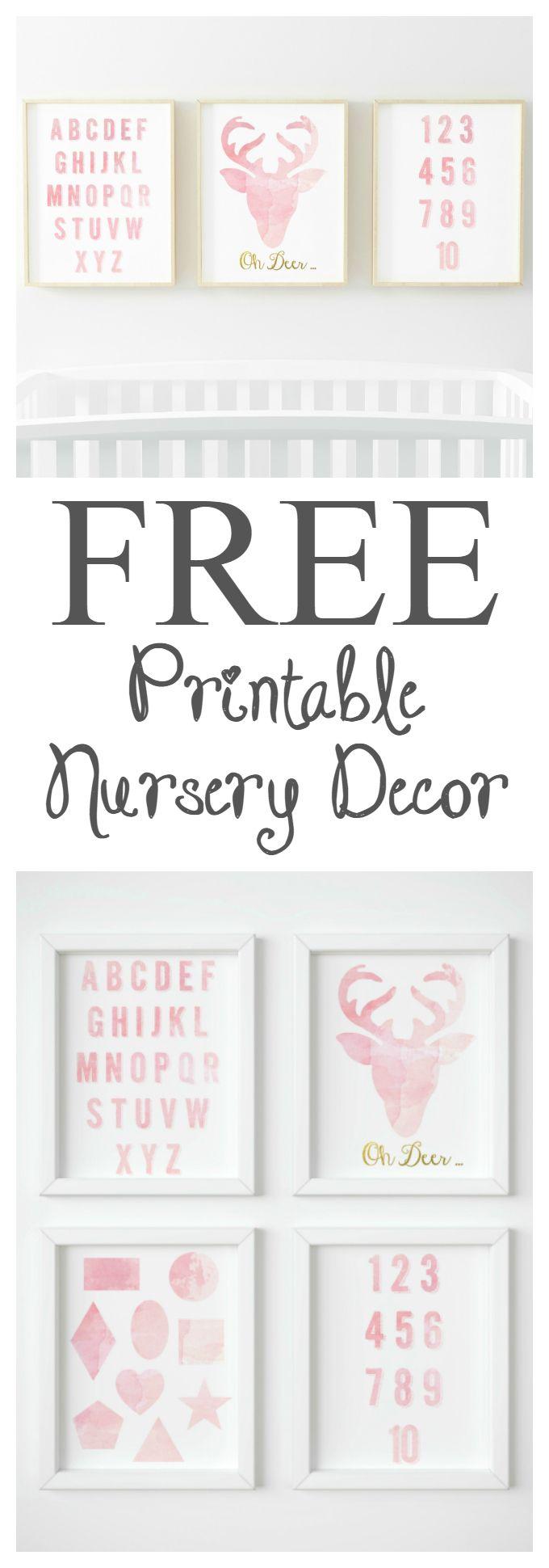 Free Printable Watercolour Nursery Decor Diy Nursery Decor Baby