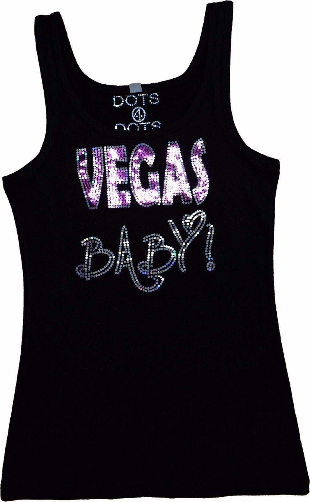 bed79c553639 Las Vegas Bling Tank Top Sequin Vegas Shirt No Rhinestones Sparkly Glitter  Tee
