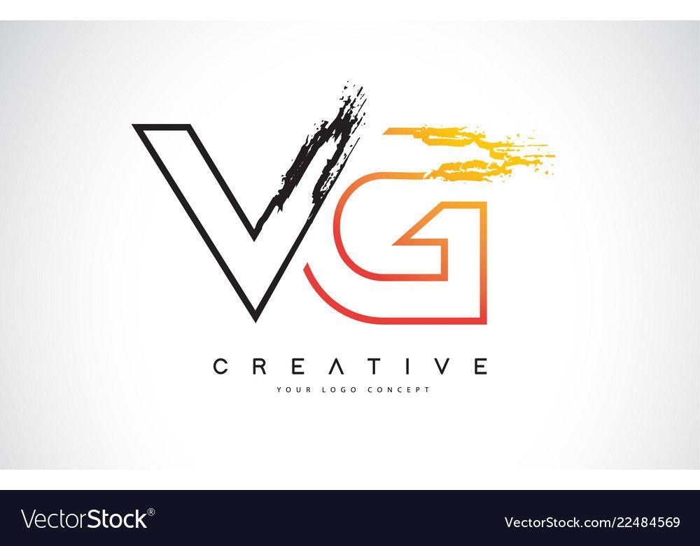 Vg Creative Modern Logo Design With Orange And Vector Image Affiliate Modern Logo Vg Creative Letter Logo Design Colorful Logo Design G Logo Design
