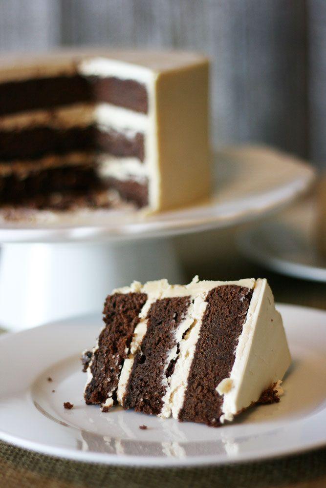 Buttermilk Chocolate Cake With Butterscotch Buttercream Cake Paper Party Recipe Buttermilk Chocolate Cake Desserts Chocolate Cake