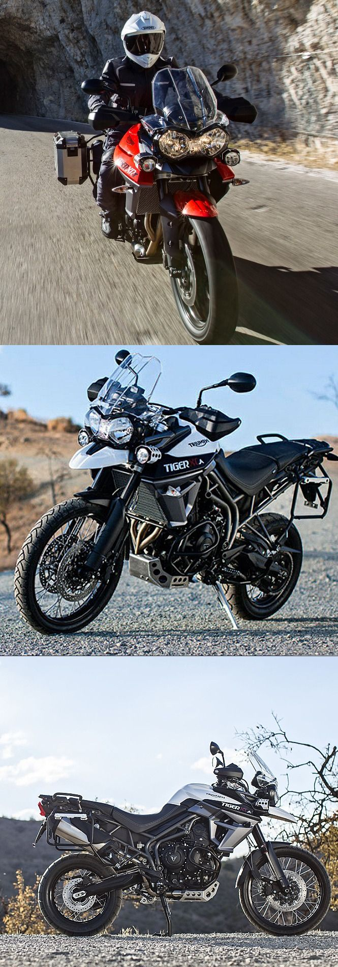 #Triumph Tiger 800 XR and XC Got Tail; Introducing XRT and XCA #bike