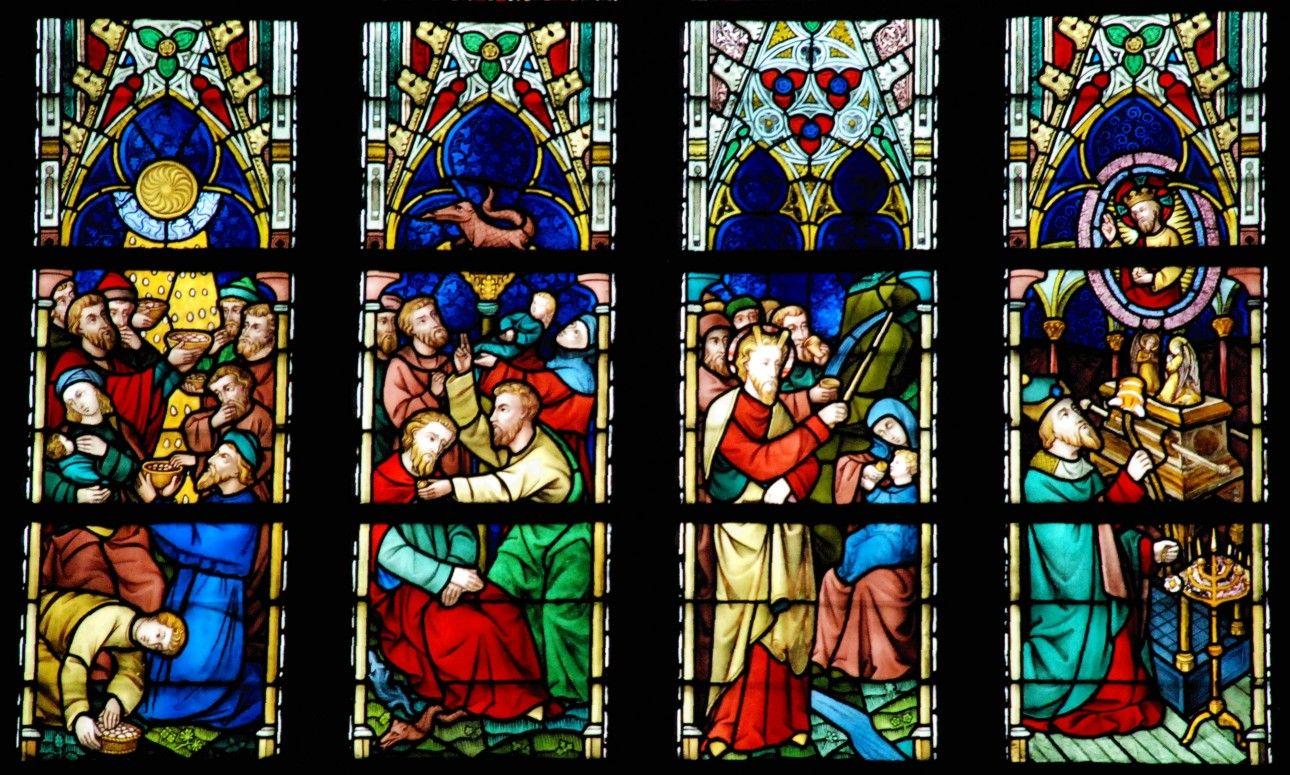 Las vidrieras de la catedral de Sint-Salvator, en Brujas