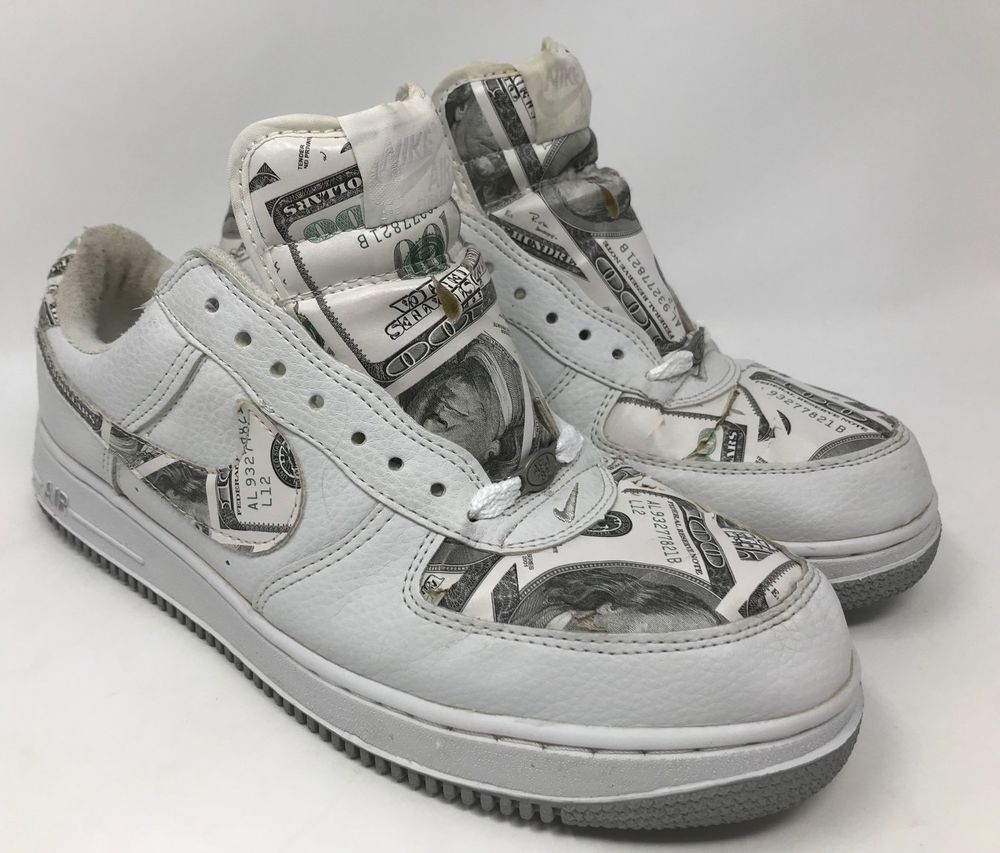 f85f5369a5e Nike Air Force 1 Money 100 Dollar Bill Print Size 10  Nike   BasketballShoes. Find this Pin and more on Shoes ...