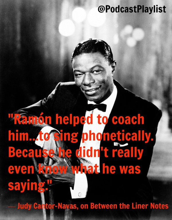 Quote about working with Nat King Cole