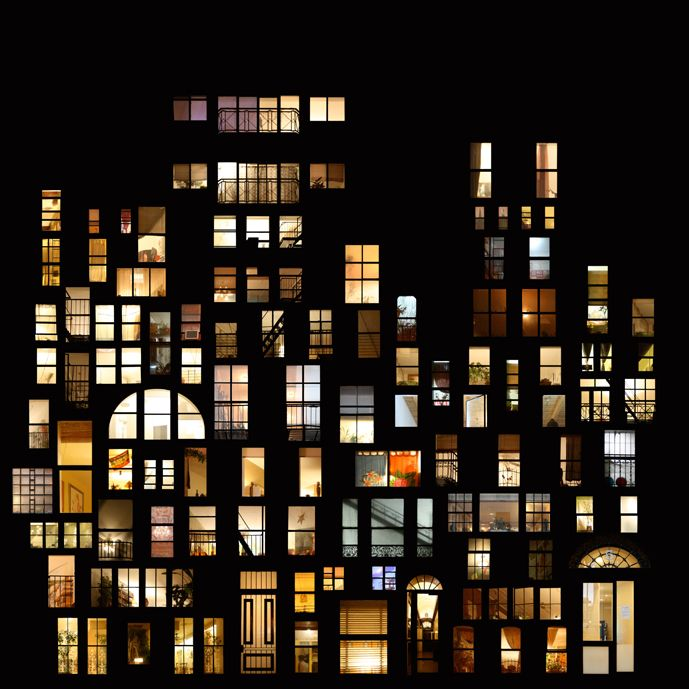 Dreamy Window Collage Structures | super cool | Architecture
