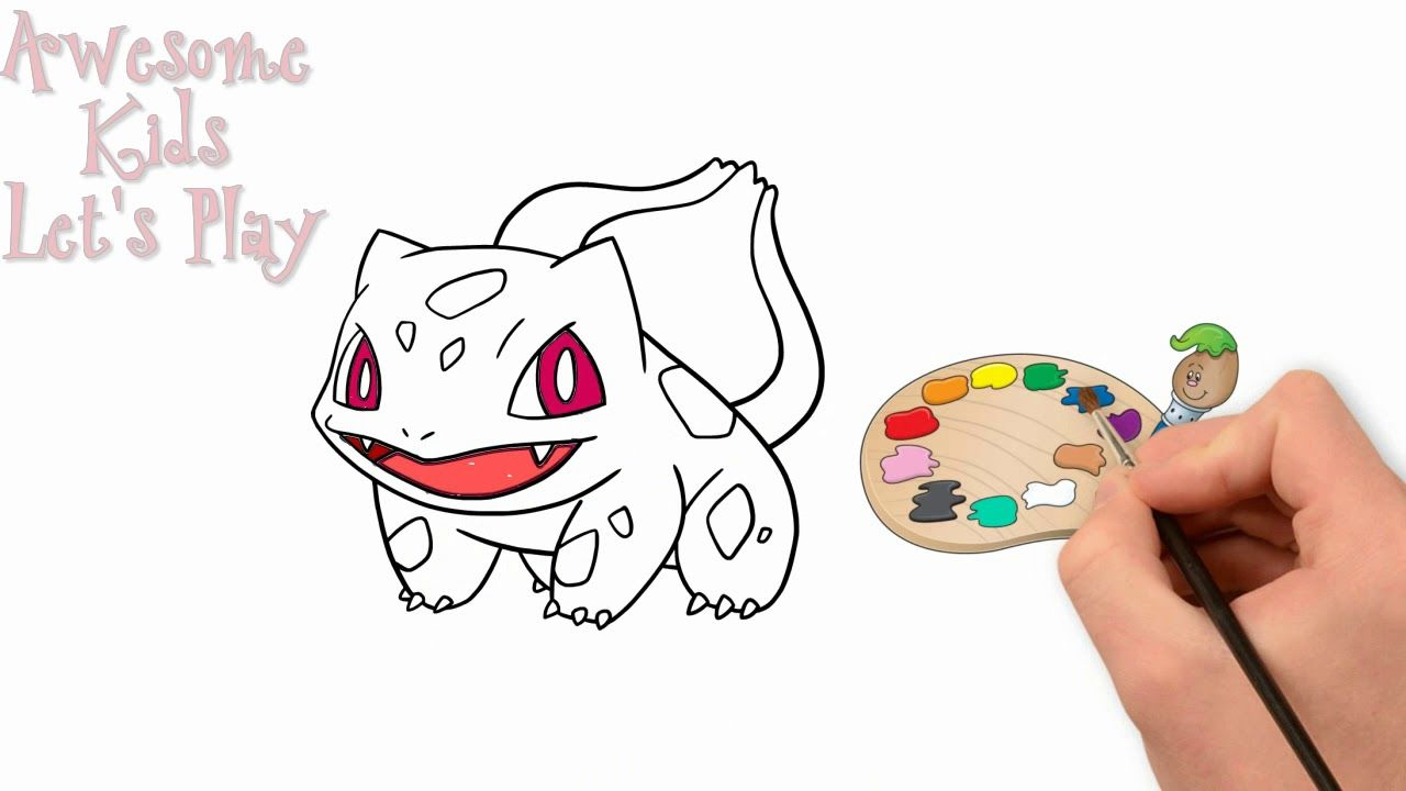 Pokemon Bulbasaur Coloring Pages| Learn Colors Pokemon ...