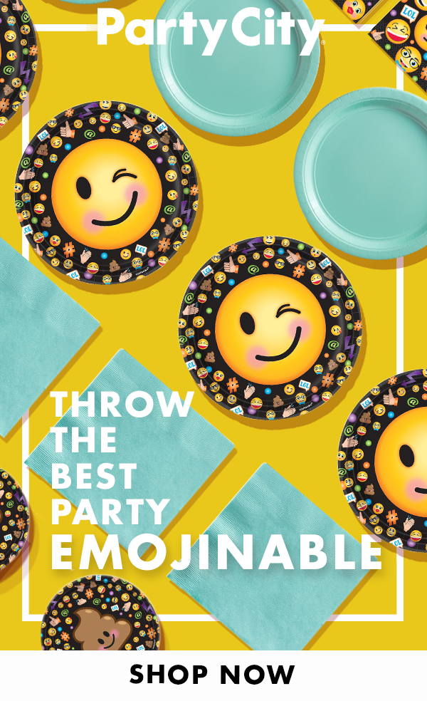 Shop Party City For Emoji Themed Birthday Supplies