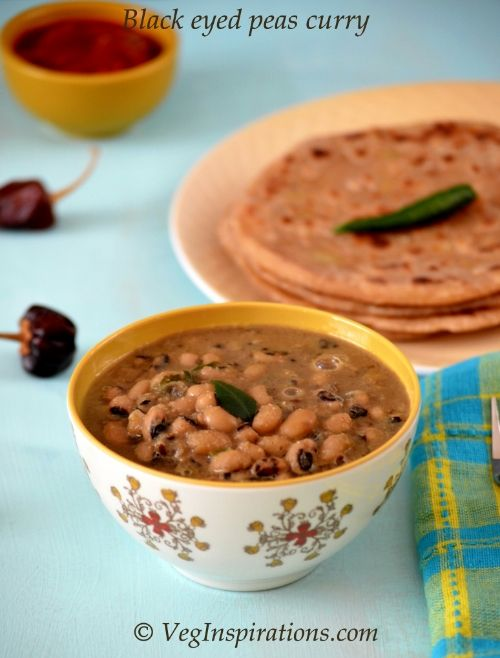 Easy Vegan Black Eyed Peas Curry Maharashtrian Style Chawli