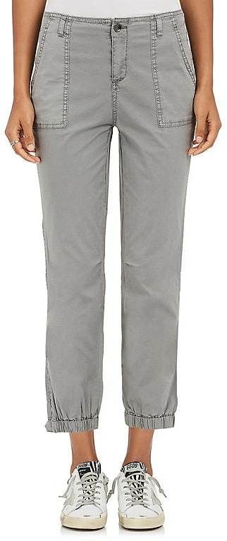 Womens Stretch-Cotton Cargo Pants Barneys New York