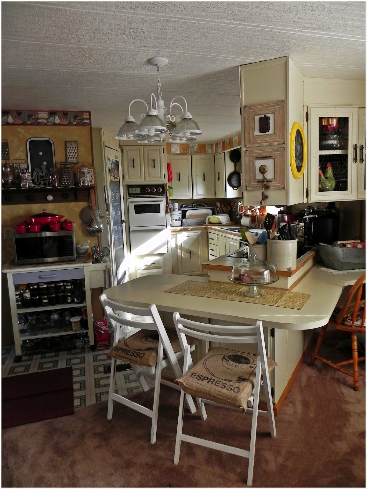 Dining Room After A Mobile Home Makeover