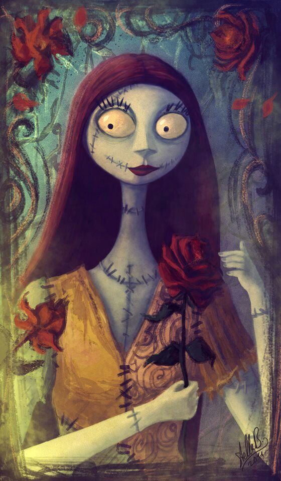 the nightmare before christmas fan art haven t really drawn any nmbc art for so here is a simple portrait of sally to change things a bit