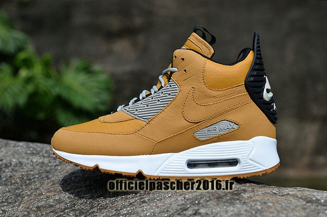 more photos bf934 c165f Officiel Nike Air Max 90 Sneakerboot Winter Chaussures Nike Basketball Pas  Cher Pour Homme Noir - Jaune - Gris - Blanc