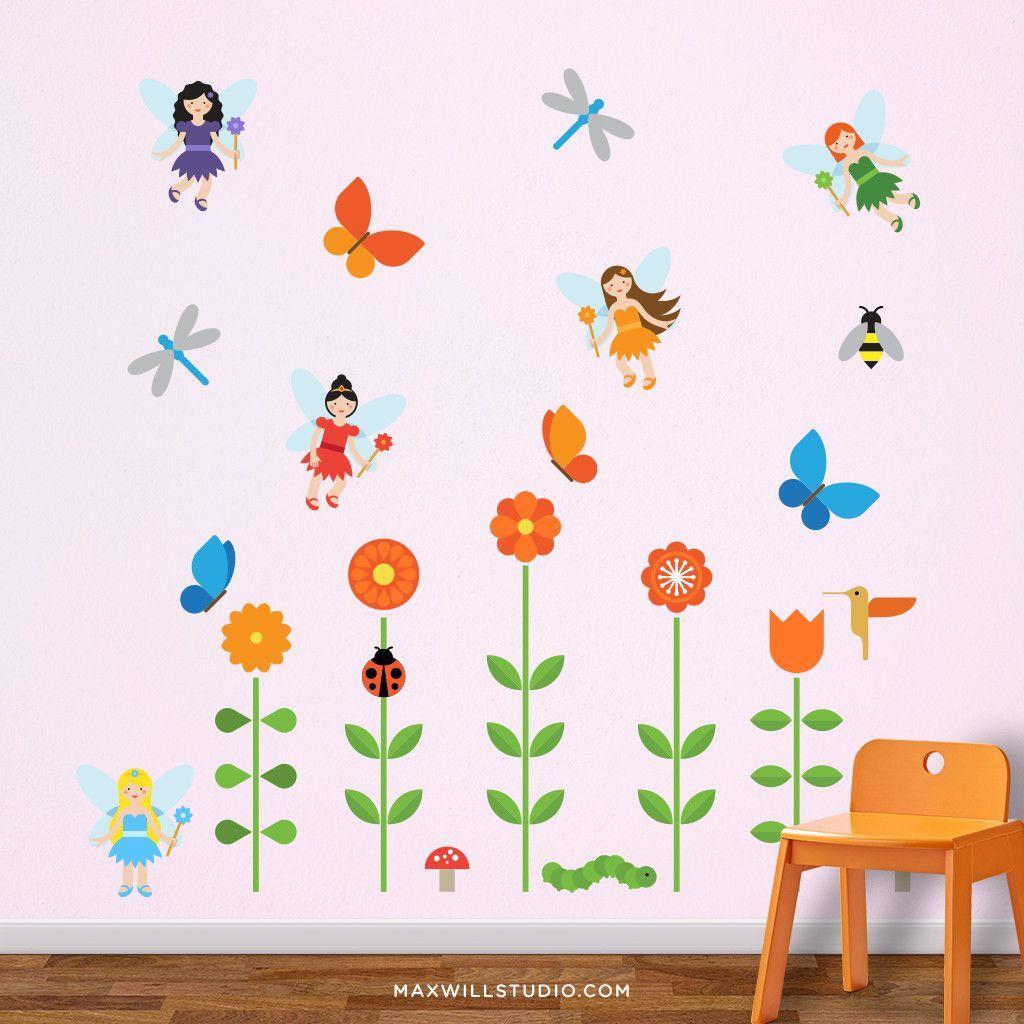 Fairy Garden Wall Decals | Wall decals, Walls and Nursery