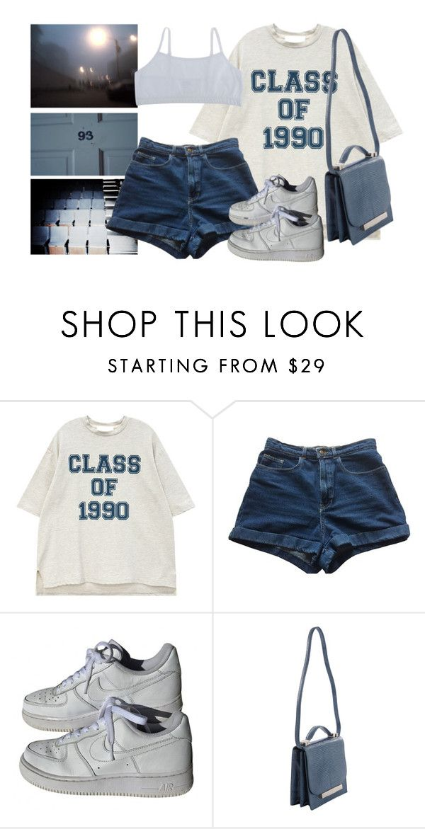 """""""growing"""" by paper-freckles ❤ liked on Polyvore featuring American Apparel, NIKE and The Row"""