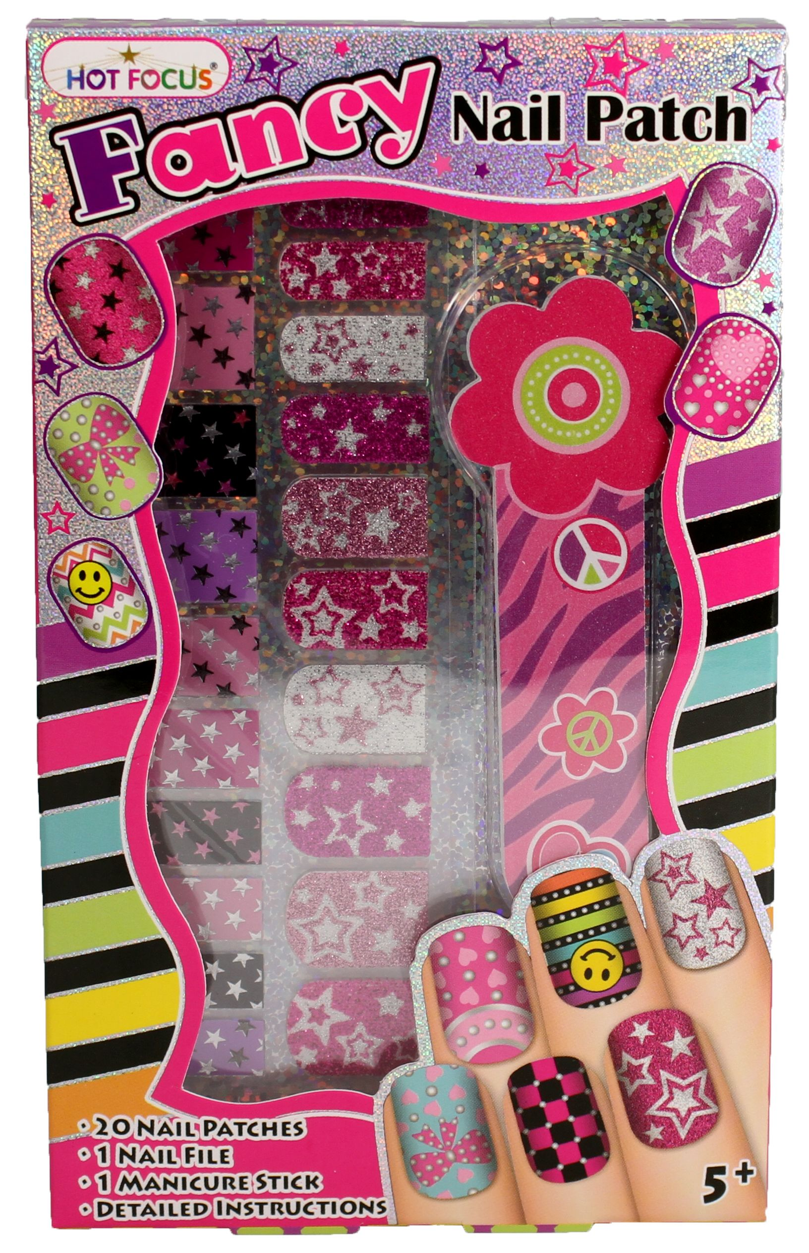 Fancy Nail Patches, Nail File, and Manicure Stick - Stars | Pinterest