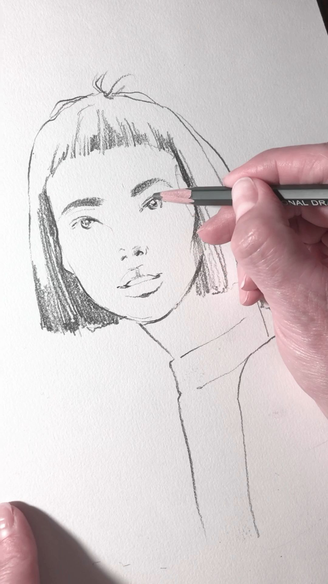 Photo of Fashion illustration.Free hand sketch by Nadia Coolrista.