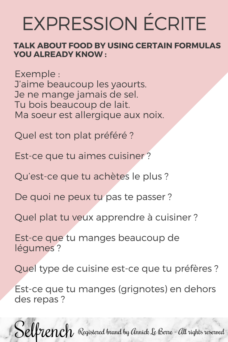 Expression Ecrite Prompt for a French Written Expression ...