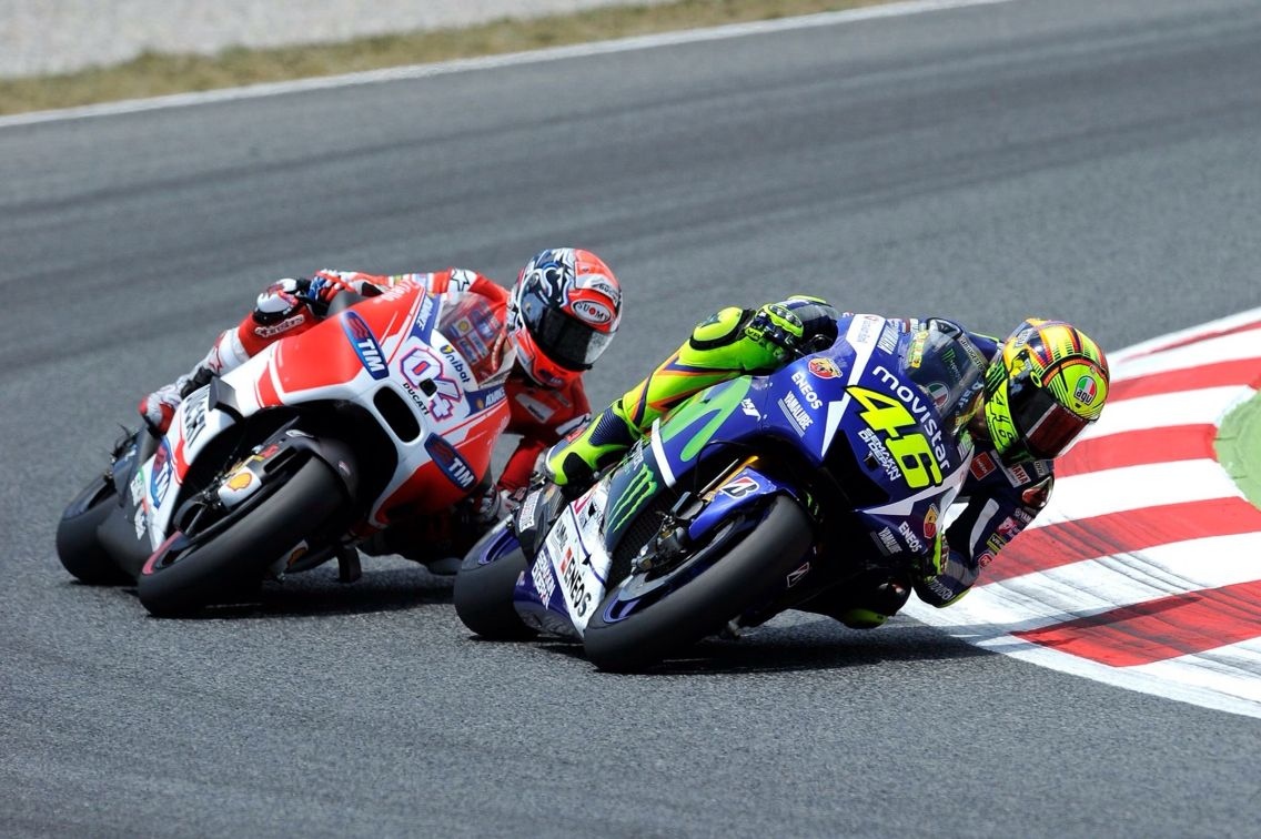 AD04 and VR46 in the race Rennsport, Rennen, Sport