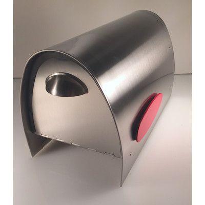 Spira Mailbox Post Mounted Mailbox Stainless Steel Mailbox Mounted Mailbox Modern Mailbox