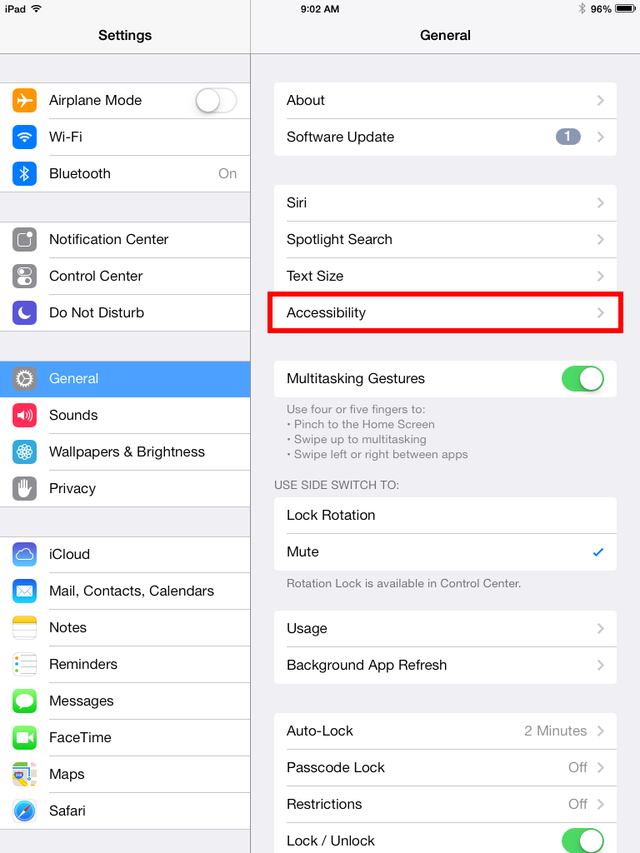iPad Accessibility Guide Iphone parental controls