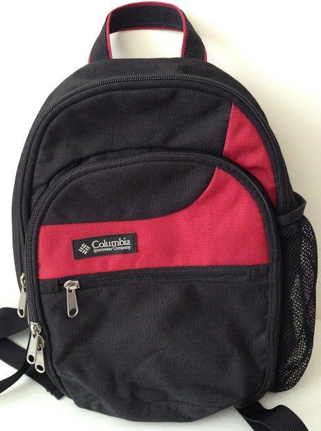 edf6fb8b1f Columbia Sportswear Backpack Day Pack Red Black Hiking Kids School 13