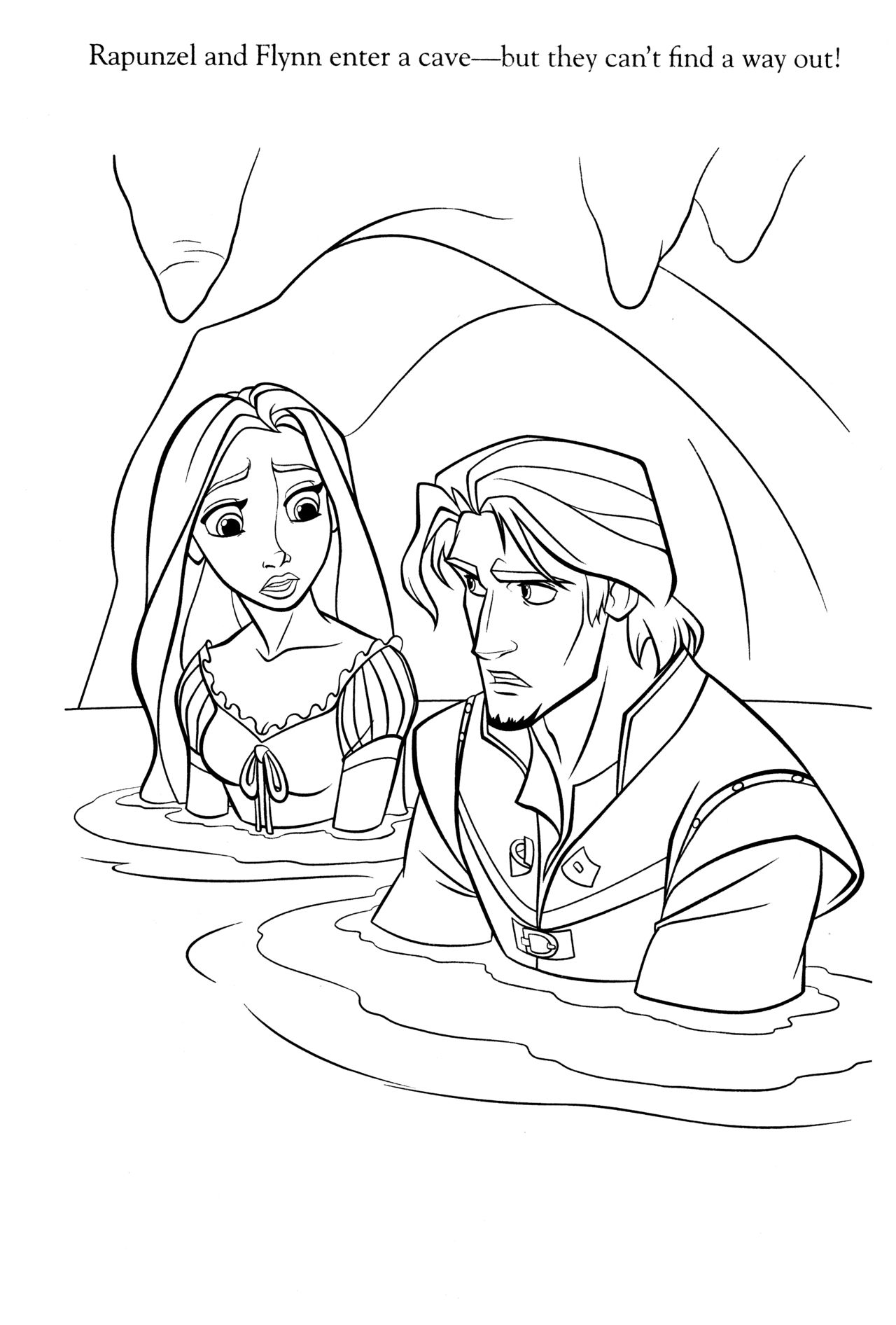Coloriage raiponce tangled pinterest tangled adult coloring