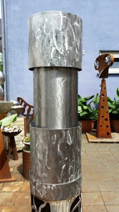 Zierbrunnen-Saule Metallkunst Pinterest Edelrost, Edelstahl - gartendeko edelstahl windspiel