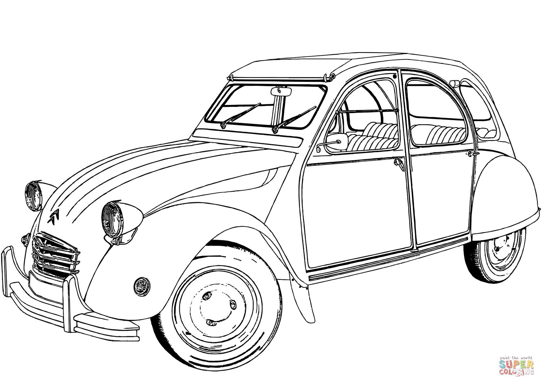 Citroen 2 Cv Super Coloring Auto Tekeningen Kleurboek