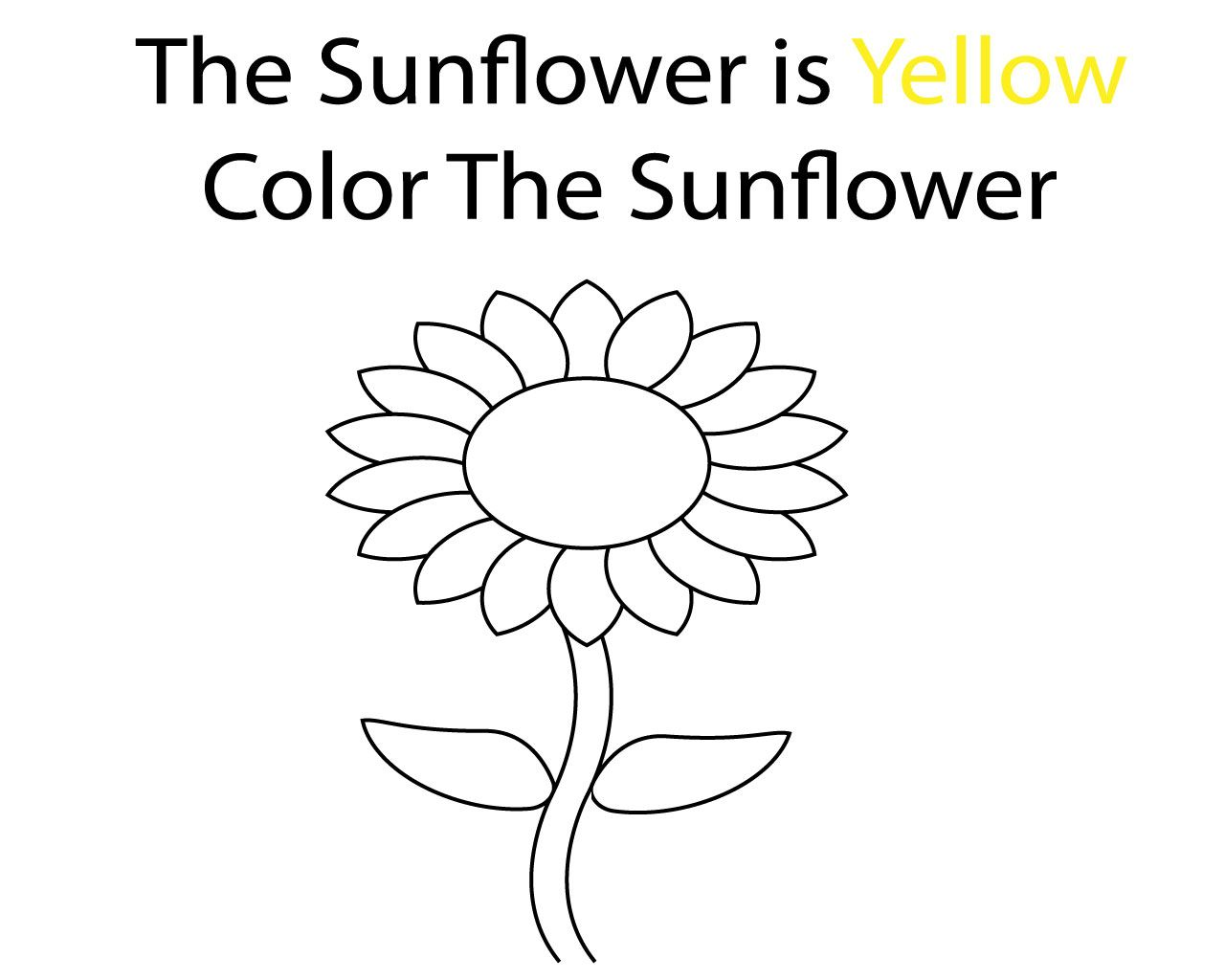 Yellow Coloring Pages To Print