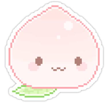 Pixel Peach Stickers By Offshoredesigns Redbubble Anime Pixel Art Pixel Art Kawaii Doodles