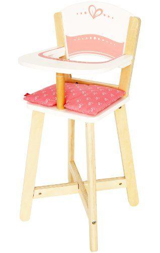 Chaise Haute De Poupee Vintage En Bois Vernis Et Rose Coussin Volante Liberty Felicite De La Boutique Atelierdelachoisille Sur High Chair Decor Home Decor
