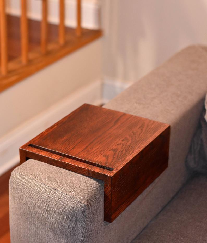 Couch Table Couch Arm Table Custom Sofa Arm Tray Handmade Wooden Couch Arm Tray Wooden Couch Couch Arm Table Couch Table