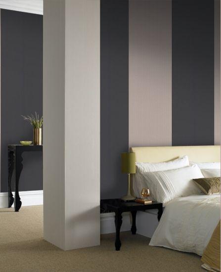 30-390 Kelly Hoppen Bold Stripe Black Stripe Wallpaper   Graham  Brown